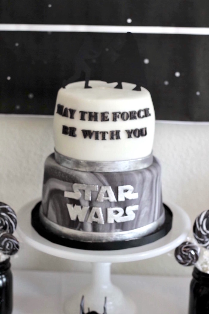 Kara S Party Ideas Monochromatic Star Wars Birthday Party