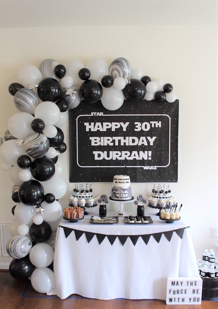 Monochromatic Star Wars Birthday Party on Kara's Party Ideas | KarasPartyIdeas.com (9)