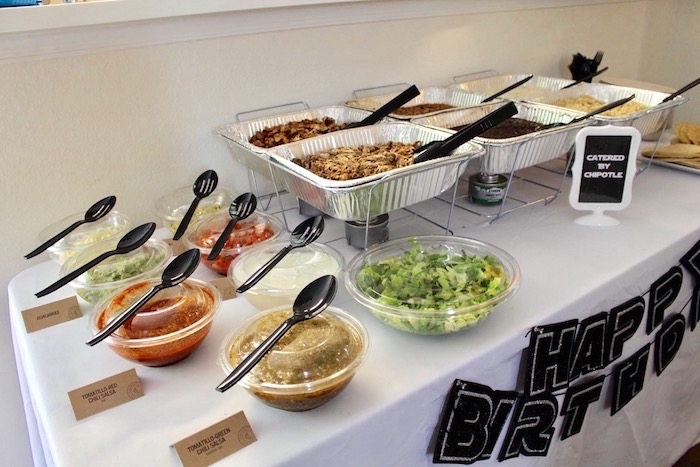 Food table from a Monochromatic Star Wars Birthday Party on Kara's Party Ideas | KarasPartyIdeas.com (7)