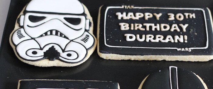 Monochromatic Star Wars Birthday Party on Kara's Party Ideas | KarasPartyIdeas.com (6)