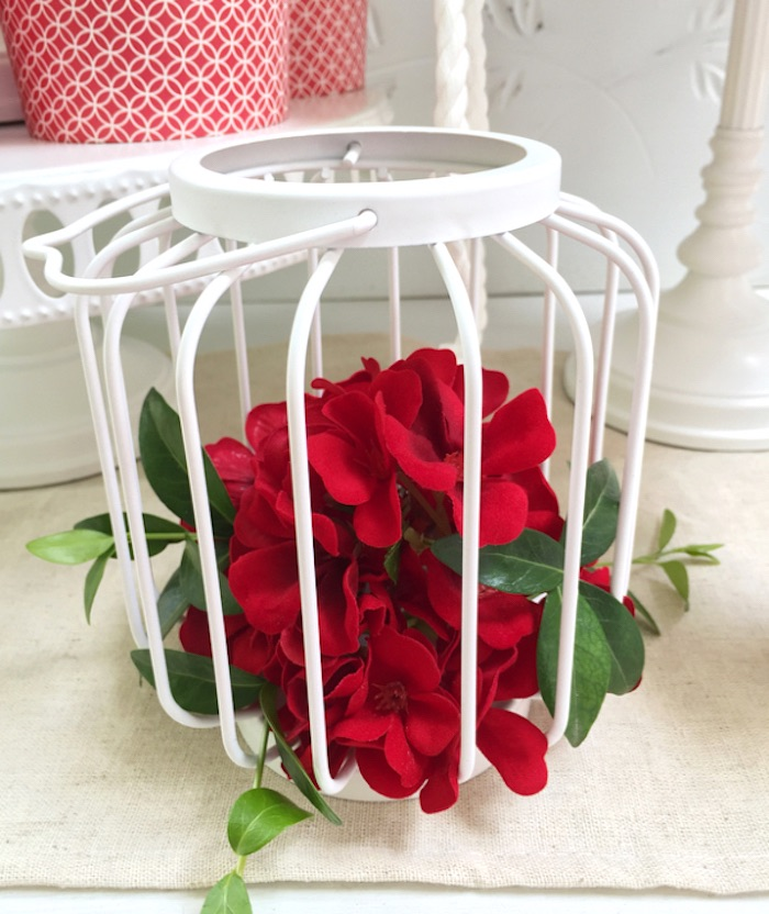 Wire lantern blooms from a Nautical Lobster Summer Party on Kara's Party Ideas | KarasPartyIdeas.com (18)