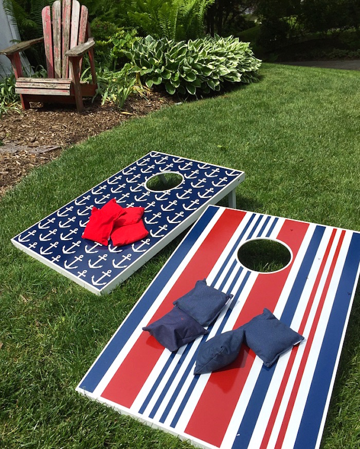 Bean bag toss game from a Nautical Lobster Summer Party on Kara's Party Ideas | KarasPartyIdeas.com (16)