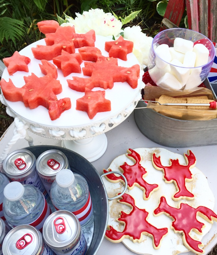 Lobster watermelon and cookies from a Nautical Lobster Summer Party on Kara's Party Ideas | KarasPartyIdeas.com (15)