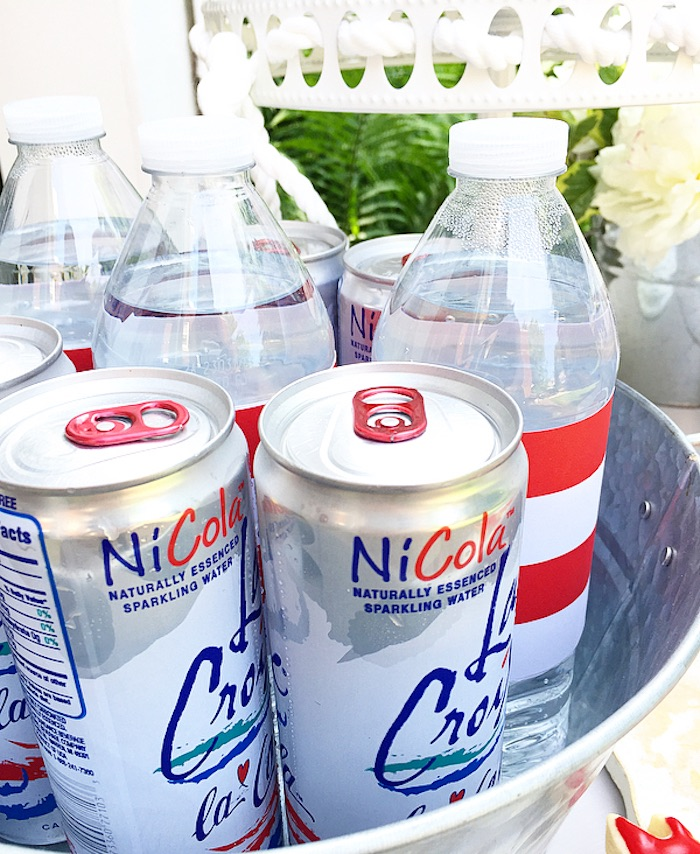 Drinks from a Nautical Lobster Summer Party on Kara's Party Ideas | KarasPartyIdeas.com (14)