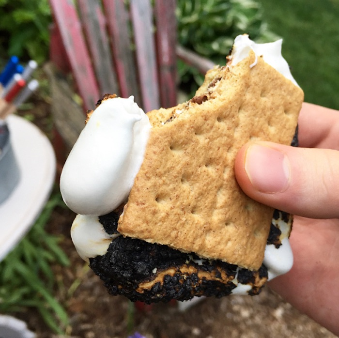 S'more from a Nautical Lobster Summer Party on Kara's Party Ideas | KarasPartyIdeas.com (8)
