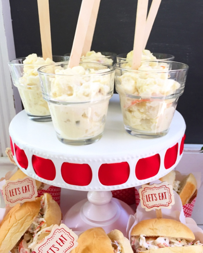 Salad cups from a Nautical Lobster Summer Party on Kara's Party Ideas | KarasPartyIdeas.com (7)