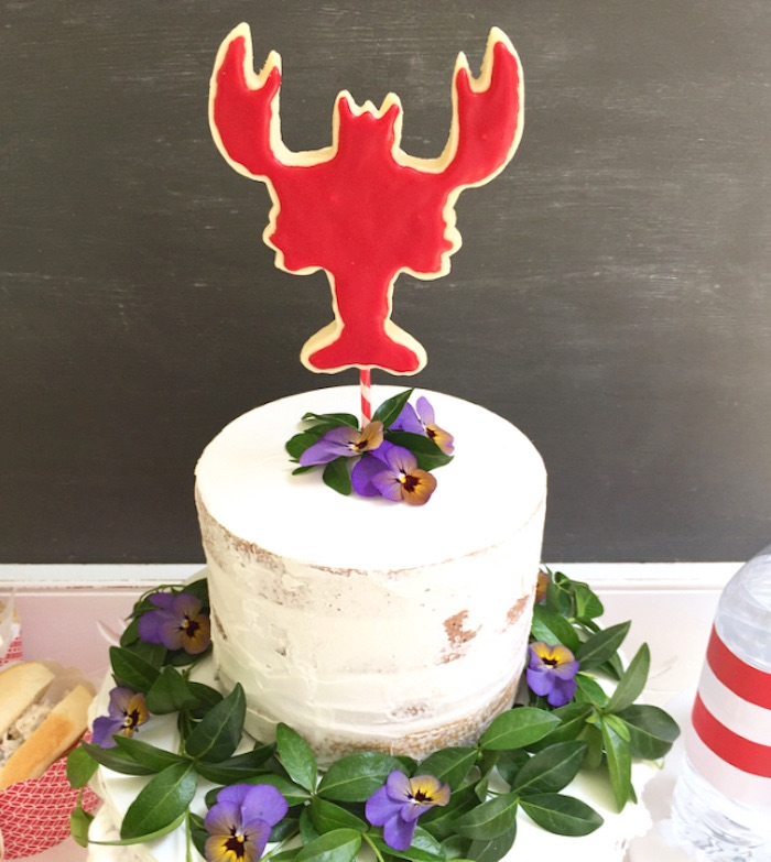 Lobster cake from a Nautical Lobster Summer Party on Kara's Party Ideas | KarasPartyIdeas.com (25)