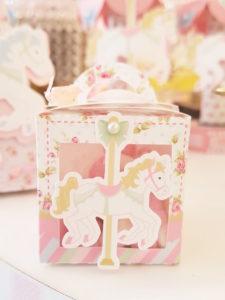 Carousel favor box from a Pastel Carousel Birthday Party on Kara's Party Ideas | KarasPartyIdeas.com (15)