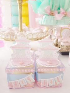 Mini plastic carousel favor boxes from a Pastel Carousel Birthday Party on Kara's Party Ideas | KarasPartyIdeas.com (14)