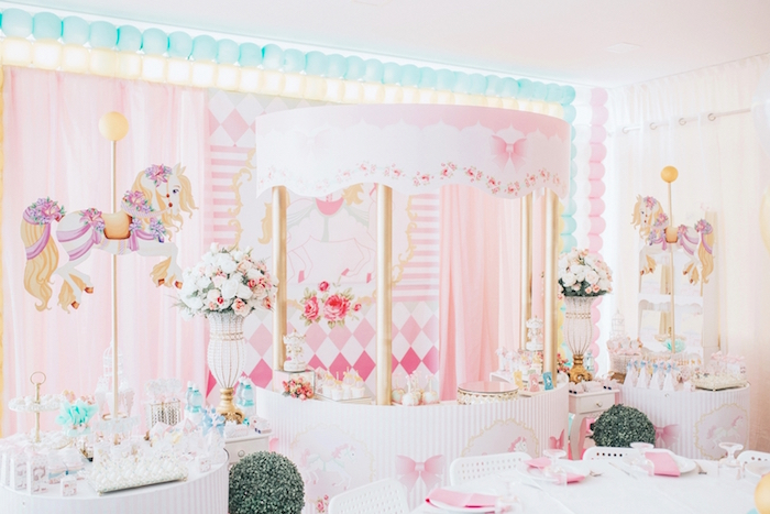 Pastel Carousel Birthday Party on Kara's Party Ideas | KarasPartyIdeas.com (10)