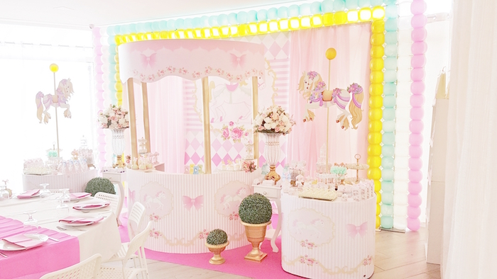 Pastel Carousel Birthday Party on Kara's Party Ideas | KarasPartyIdeas.com (26)