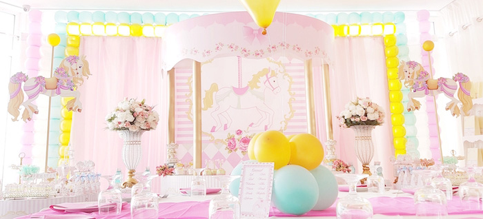 Pastel Carousel Birthday Party on Kara's Party Ideas | KarasPartyIdeas.com (4)