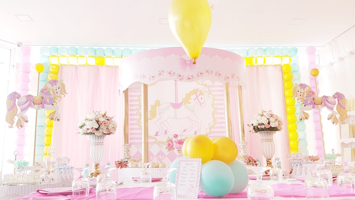 Pastel Carousel Birthday Party on Kara's Party Ideas | KarasPartyIdeas.com (23)