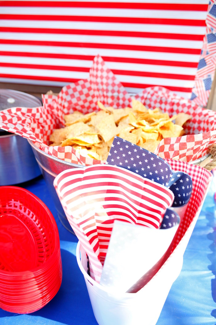 Patriotic Red, White, and Blue Barbecue on Kara's Party Ideas | KarasPartyIdeas.com (10)