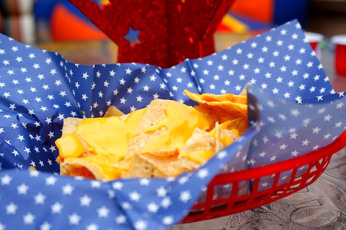 Nachos from a Patriotic Red, White, and Blue Barbecue on Kara's Party Ideas   KarasPartyIdeas.com (9)