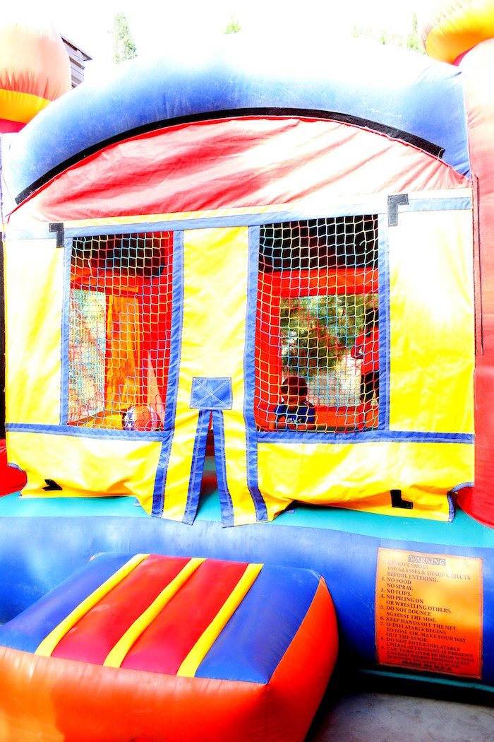 Bounce house from a Patriotic Red, White, and Blue Barbecue on Kara's Party Ideas | KarasPartyIdeas.com (16)