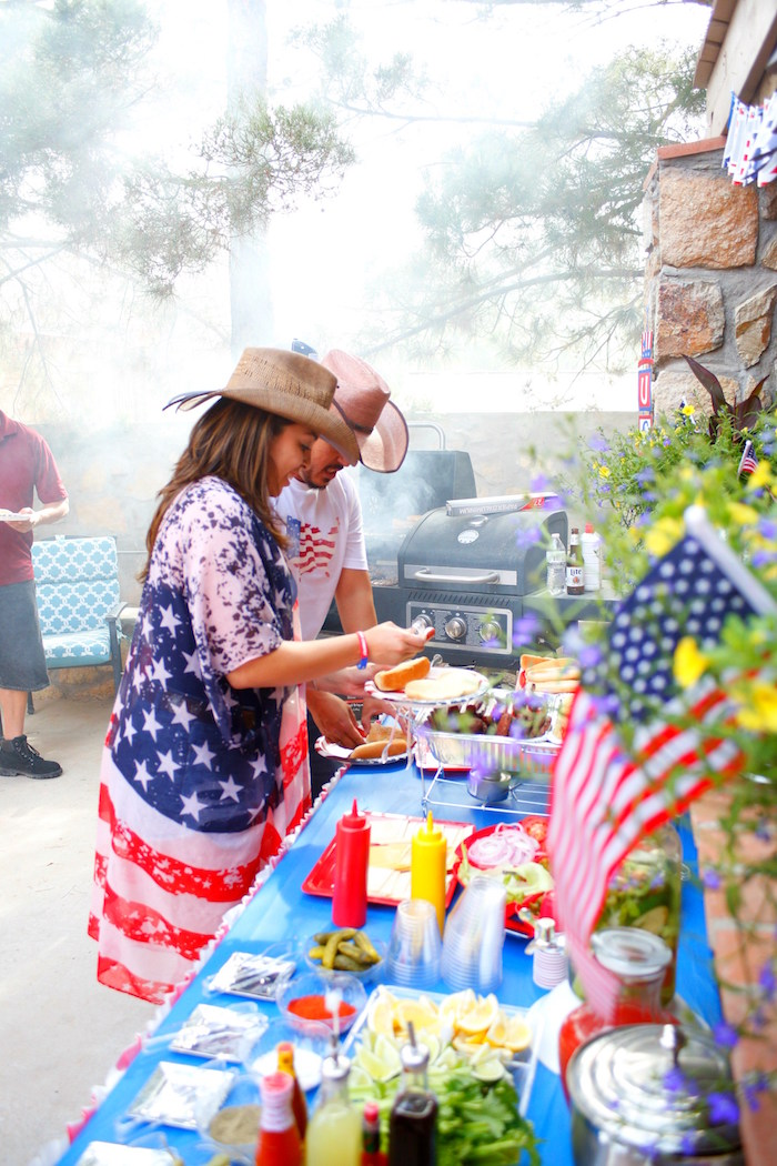 Kara S Party Ideas Patriotic Red White And Blue Barbecue