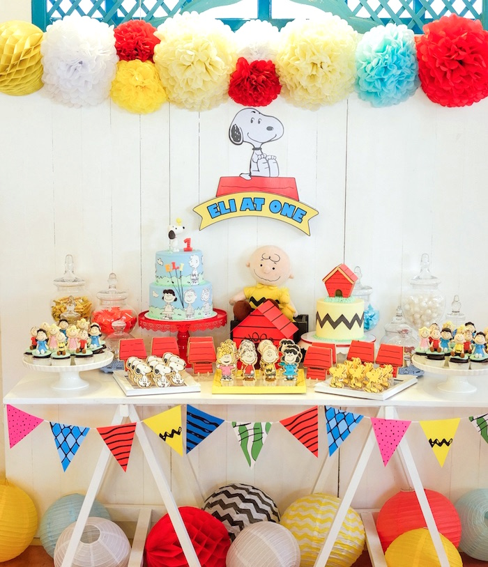 Peanuts Snoopy Birthday Party On Kara S Ideas Karaspartyideas 19