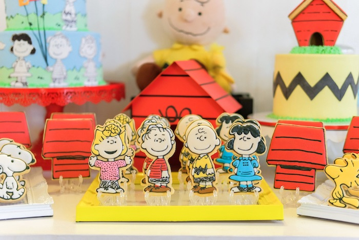 Cookies from a Peanuts + Snoopy Birthday Party on Kara's Party Ideas | KarasPartyIdeas.com (14)