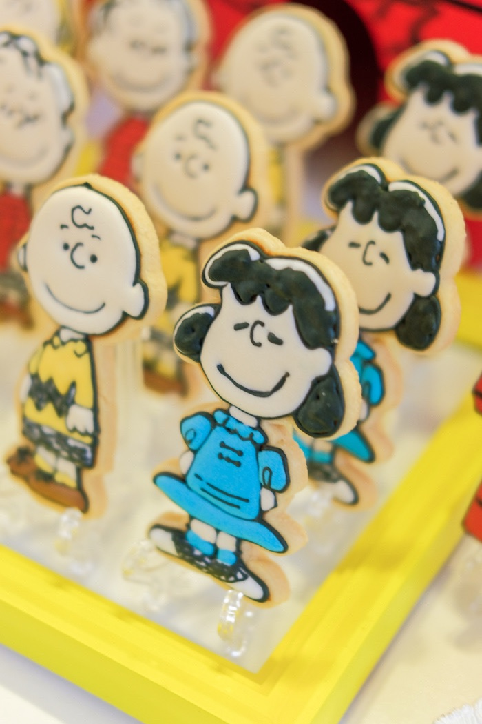 Lucy cookie from a Peanuts + Snoopy Birthday Party on Kara's Party Ideas   KarasPartyIdeas.com (12)