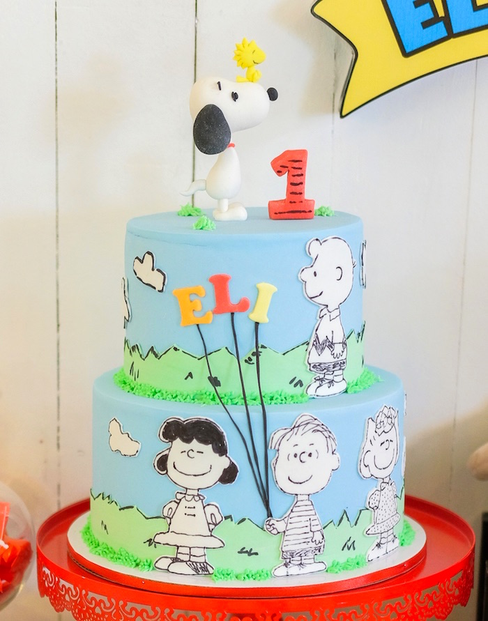 Excellent Karas Party Ideas Peanuts Snoopy Birthday Party Karas Party Funny Birthday Cards Online Alyptdamsfinfo