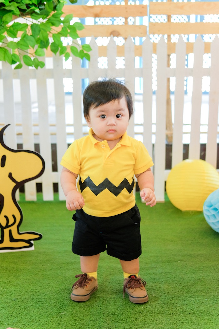 Charlie Brown attire from a Peanuts + Snoopy Birthday Party on Kara's Party Ideas | KarasPartyIdeas.com (8)