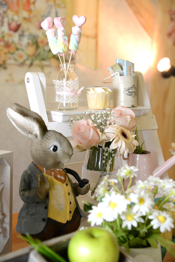 Details from a Peter Rabbit Garden Birthday Party on Kara's Party Ideas | KarasPartyIdeas.com (13)