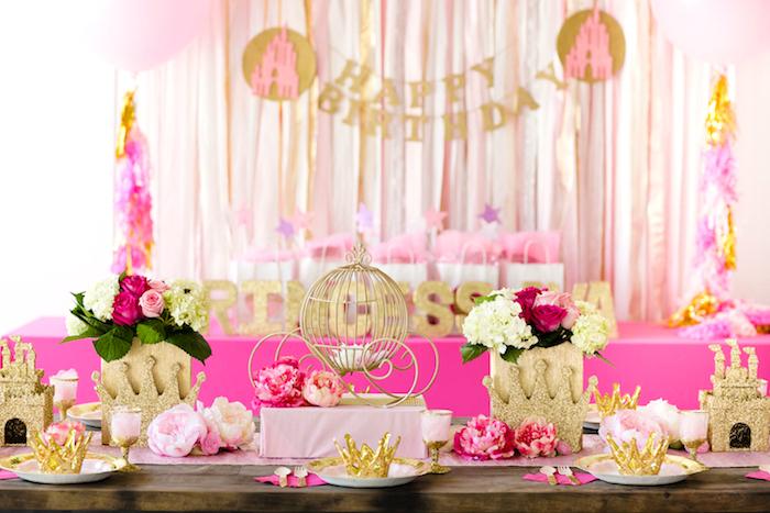 Pink Gold Princess Party On Karas Ideas