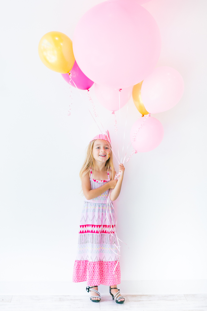 Balloon bunch from a Pink & Gold Princess Party on Kara's Party Ideas | KarasPartyIdeas.com (11)