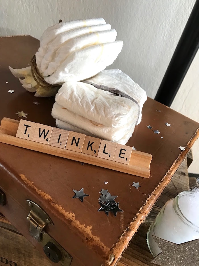 Twinkle lettering from a Rustic Twinkle Star Gender Reveal Baby Shower on KARA'S PARTY IDEAS | KarasPartyIdeas.com (39)