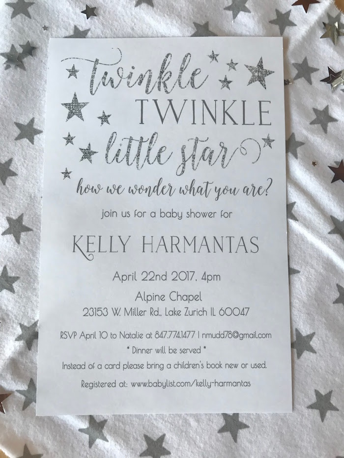 kara's party ideas rustic twinkle star gender reveal baby shower, Baby shower invitations