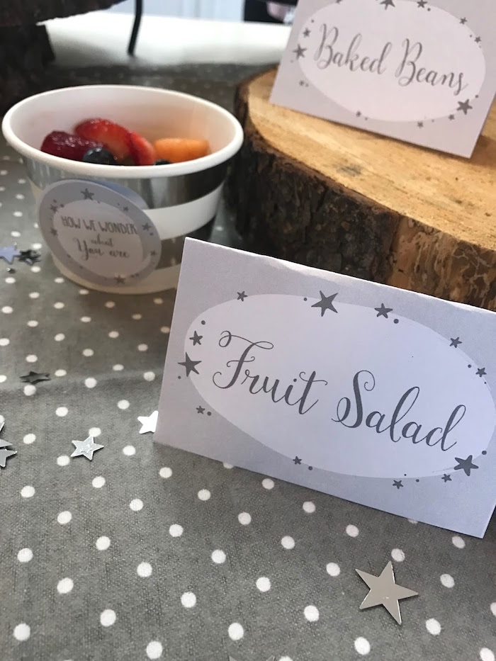 Fruit salad from a Rustic Twinkle Star Gender Reveal Baby Shower on KARA'S PARTY IDEAS | KarasPartyIdeas.com (10)