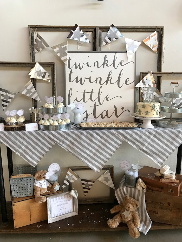 Rustic Baby Boy Shower Decorations