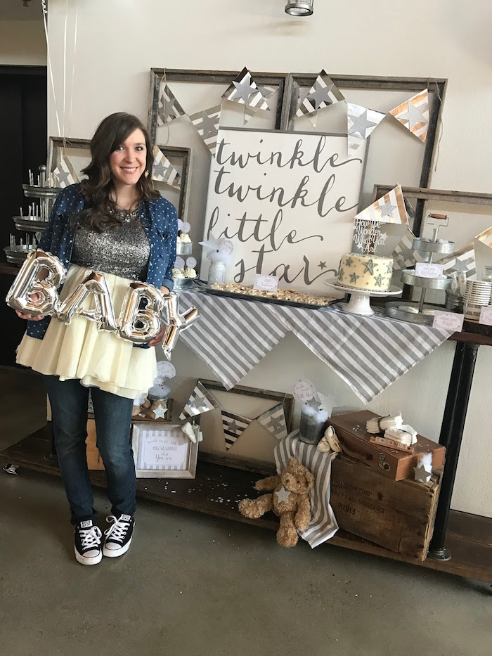 Rustic Twinkle Star Gender Reveal Baby Shower on KARA'S PARTY IDEAS | KarasPartyIdeas.com (8)