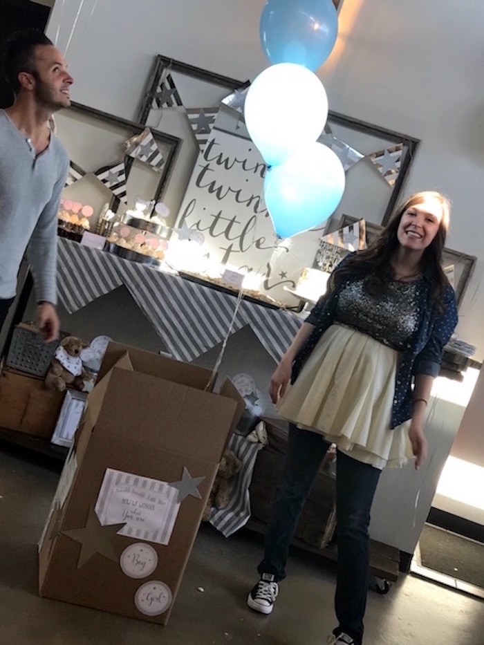 Reveal from a Rustic Twinkle Star Gender Reveal Baby Shower on KARA'S PARTY IDEAS | KarasPartyIdeas.com (4)