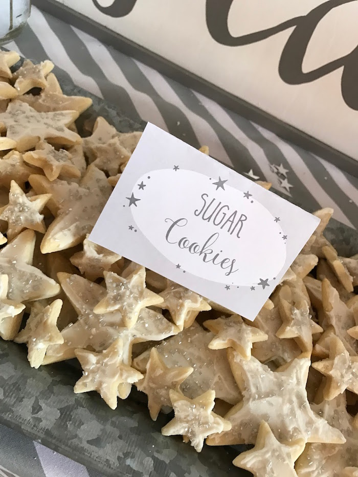 Star sugar cookies from a Rustic Twinkle Star Gender Reveal Baby Shower on KARA'S PARTY IDEAS | KarasPartyIdeas.com (44)