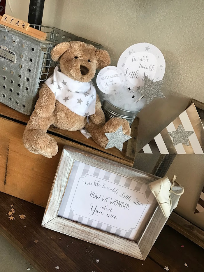 Decor from a Rustic Twinkle Star Gender Reveal Baby Shower on KARA'S PARTY IDEAS | KarasPartyIdeas.com (40)