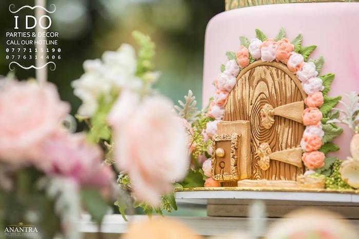 Cake detail from a Secret Garden Birthday Party on Kara's Party Ideas   KarasPartyIdeas.com (29)