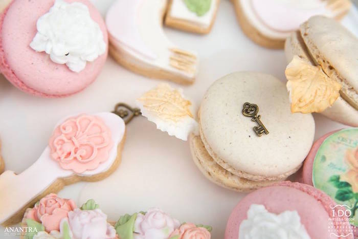 Key macarons and cookies from a Secret Garden Birthday Party on Kara's Party Ideas   KarasPartyIdeas.com (43)