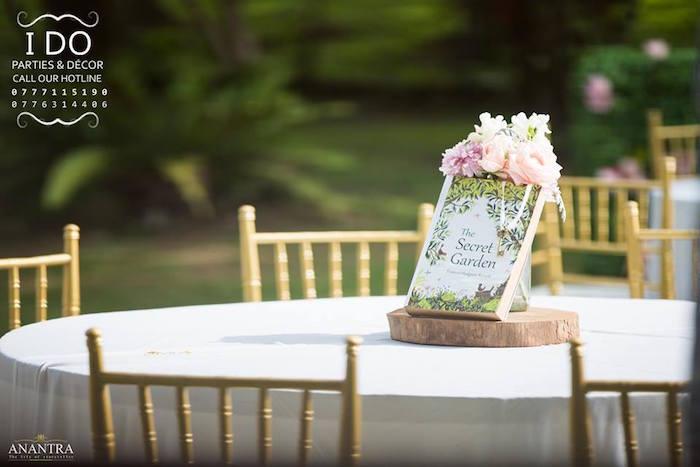 Guest table from a Secret Garden Birthday Party on Kara's Party Ideas   KarasPartyIdeas.com (38)