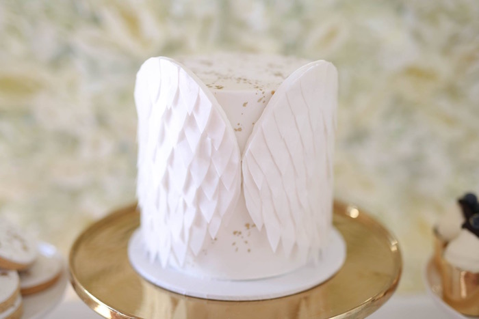 Karas Party Ideas Shabby Chic Little Angel Birthday Party