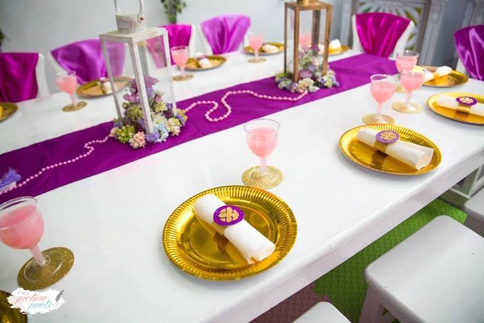 Place setting from a Sofia the First Birthday Party on Kara's Party Ideas   KarasPartyIdeas.com (13)