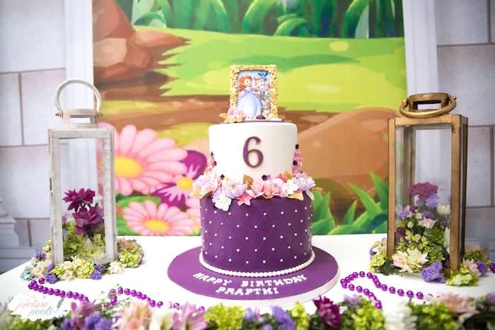 Sofia The First Cake From A Birthday Party On Kara S Ideas