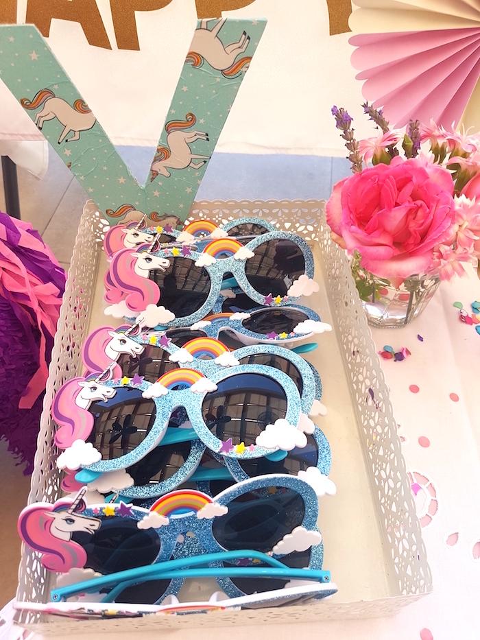 Unicorn sunnies from a Summer Unicorn Birthday Party on Kara's Party Ideas | KarasPartyIdeas.com (14)