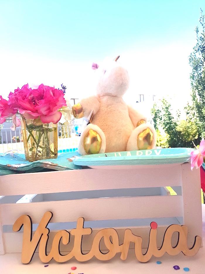 Decor from a Summer Unicorn Birthday Party on Kara's Party Ideas | KarasPartyIdeas.com (7)