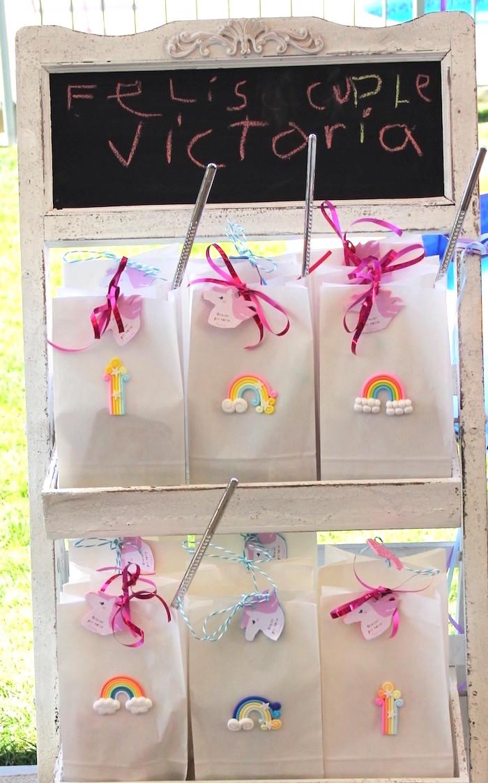 Favor bags from a Summer Unicorn Birthday Party on Kara's Party Ideas | KarasPartyIdeas.com (18)
