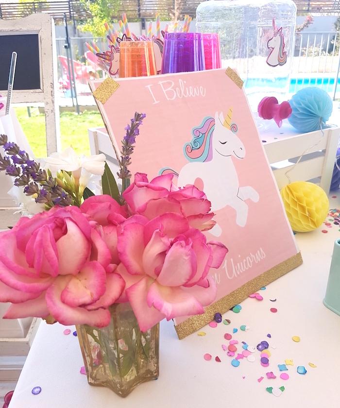 Summer Unicorn Birthday Party on Kara's Party Ideas | KarasPartyIdeas.com (17)