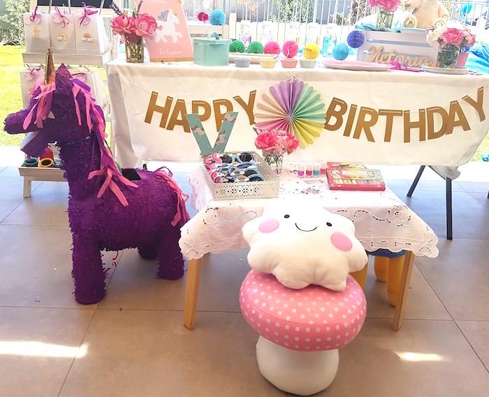 Summer Unicorn Birthday Party on Kara's Party Ideas | KarasPartyIdeas.com (15)
