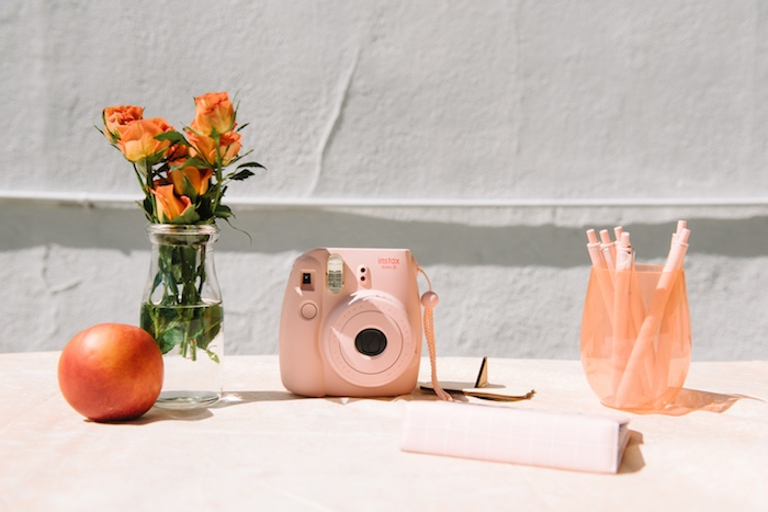 Instax camera from a Sweet As A Peach 1st Birthday Party on Kara's Party Ideas | KarasPartyIdeas.com (8)