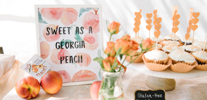 Sweet As A Peach 1st Birthday Party on Kara's Party Ideas | KarasPartyIdeas.com (2)